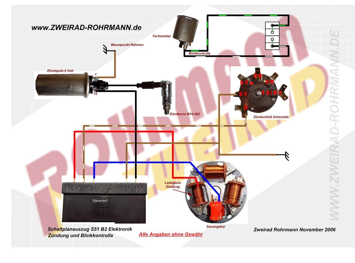Simson Schaltplan S51 Elektronik