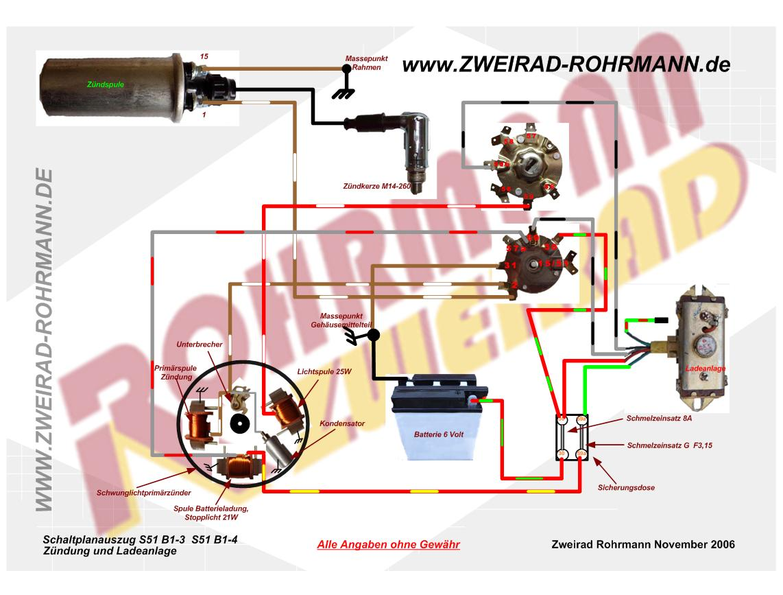 Simson S51 6 Volt Elektronik Schaltplan - Wiring Diagram